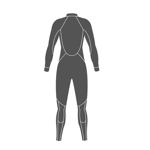 **SUIT,3MM QS FULL/ALS,WMN,BLK,13/14