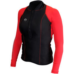 Performance Wear Long Sleeve Top With Chest Zip - Ladies