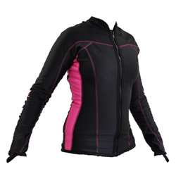 Chillproof Long Sleeve Top With Full Zip - Ladies