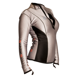 Climate Control Long Sleeve Top With Chest Zip - Ladies
