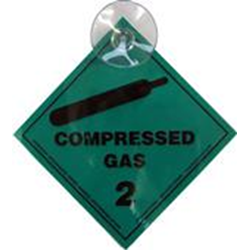 Compressed Gas Sticker (sucker Pad)