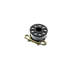 Mini Reel Large, With Approx. 30 M Rope And Brass Hook