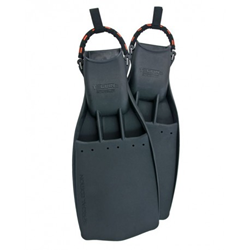 Rubber Fins Powerjet,  With Ss Spring Straps (42/44) L - Medium Hard