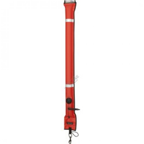 Closed buoy 11/117 cm, OPR valve, metal oral valve, with d-ring - orange