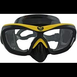 Poseidon 3d Masker Zwart Geel