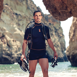 Cayman Swim Shorts - Black/charcoal