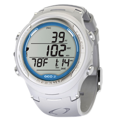 Geo 2.0 Wristwatch, White W/o Usb
