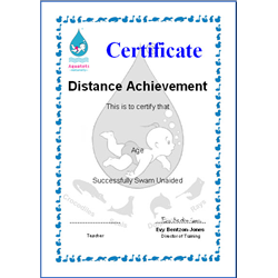 Distance Certificate And Badge